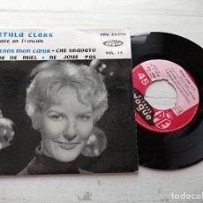 Discos de vinilo: PETULA CLARK – CHANTE EN FRANCAIS VOL. 14 EP FRANCIA EX/EX. Lote 253876335