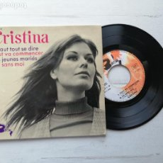 Discos de vinilo: CRISTINA* – IL FAUT TOUT SE DIRE + 3 EP FRANCIA 1968 VG++/VG++ CON LENGÜETA. Lote 253879850