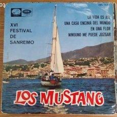 Discos de vinilo: ** LOS MUSTANG - LA VIDA ES ASÍ / UNA CASA ENCIMA DEL MUNDO + 2 - EP AÑO 1966 - LEER DESCRIPCIÓN. Lote 253881375