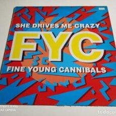 "Discos de vinilo: FINE YOUNG CANNIBALS - SHE DRIVES ME CRAZY (12""). Lote 253882605"