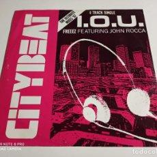"Discos de vinilo: FREEEZ FEATURING JOHN ROCCA - I.O.U. (THE ULTIMATE MIXES '87) (12"", SINGLE). Lote 253885455"