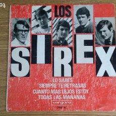 Discos de vinilo: ** LOS SIREX - LO SABES / CUANTO MAS LEJOS ESTOY + 2 - EP AÑO 1966 - LEER DESCRIPCIÓN. Lote 253887740