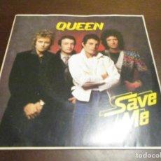 Discos de vinilo: QUEEN - SINGLE .- SAVE ME - EMI5022 - THE GAME - FREDDIE MERCURY - BRIAN MAY. Lote 253904535