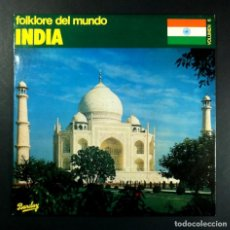 Discos de vinilo: VARIOS - FOLKLORE DEL MUNDO: INDIA - LP 1981 - BARCLAY. Lote 253908035