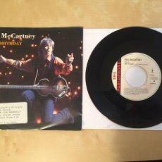 "Discos de vinilo: PAUL MCCARTNEY - BIRTHDAY - SINGLE RADIO PROMO 7"" - 1990 THE BEATLES. Lote 253920720"