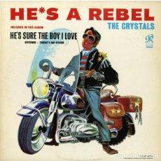 Discos de vinilo: THE CRYSTALS LP VINILO HE'S A REBEL. Lote 253924705