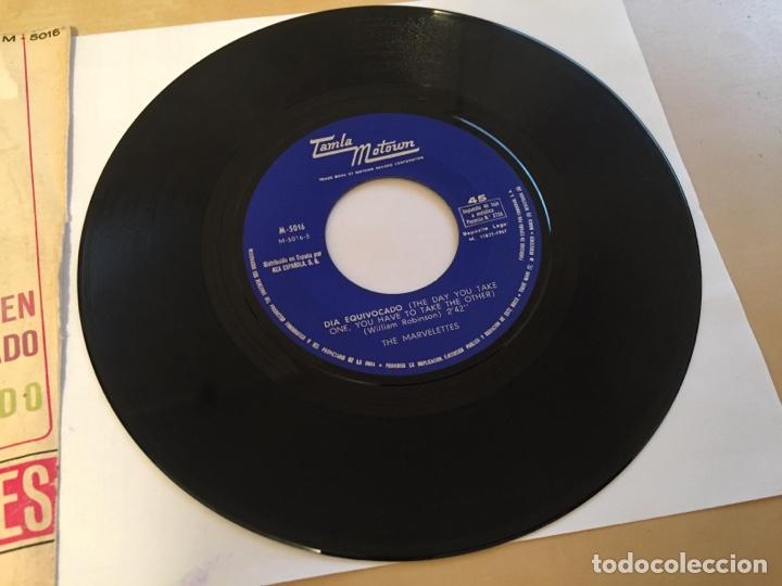 """Discos de vinilo: The Marvelettes - Cuando Eres Joven Y Estas Enamorado / Dia Equivocado PROMO RADIO 7"""" - 1967 SPAIN - Foto 4 - 253926705"""
