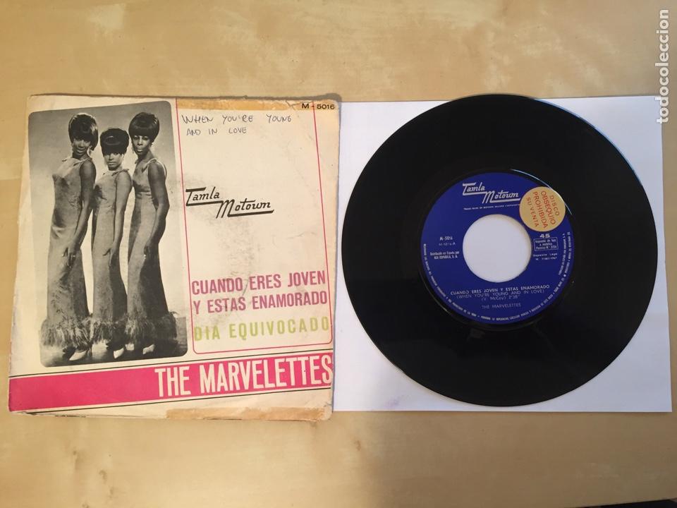 """THE MARVELETTES - CUANDO ERES JOVEN Y ESTAS ENAMORADO / DIA EQUIVOCADO PROMO RADIO 7"""" - 1967 SPAIN (Música - Discos - Singles Vinilo - Funk, Soul y Black Music)"""