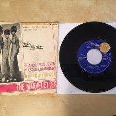 """Discos de vinilo: THE MARVELETTES - CUANDO ERES JOVEN Y ESTAS ENAMORADO / DIA EQUIVOCADO PROMO RADIO 7"""" - 1967 SPAIN. Lote 253926705"""