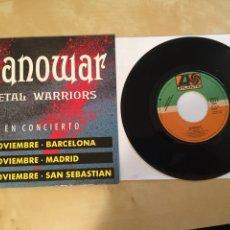 "Discos de vinil: MANOWAR - METAL WARRIORS - PROMO SINGLE RADIO 7"" - 1992 SPAIN. Lote 253933750"