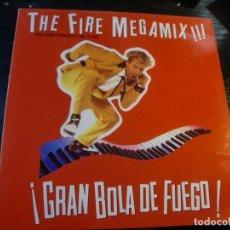 Discos de vinilo: BSO GRAN BOLA DE FUEGO - JERRY LEE LEWIS THE FIRE MEGAMIX MAXI SINGLE PROMO 1989 SPAIN EDICION LIMIT. Lote 253933970