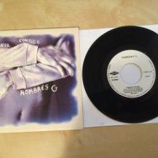 "Discos de vinilo: HOMBRES G - TORMENTA CONTIGO - PROMO SINGLE RADIO 7"" - 1992. Lote 253934540"