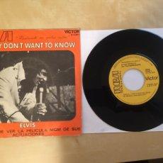 "Discos de vinilo: ELVIS PRESLEY - I REALLY DON'T WANT TO KNOW - PROMO SINGLE RADIO 7"" - 1971 ESPAÑA SPAIN. Lote 253937415"