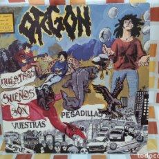 Discos de vinilo: ORGON -NUESTROS SUEÑOS SON VUESTRAS PESADILLAS. LP VINILO EDICIÓN ORIGINAL DE 1992 - HARDCORE-PUNK. Lote 253957150