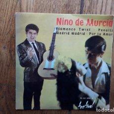 Discos de vinilo: NIÑO DE MURCIA - FLAMENCO TWIST + MADRID, MADRID + POR TU AMOR + PENALTI. Lote 253965900