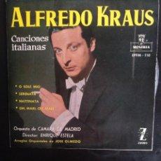 Discos de vinilo: ALFREDO KRAUS - CANCIONES ITALIANAS / O SOLE MIO / SERENATA ...EP ZAFIRO DE 1959. Lote 253958415