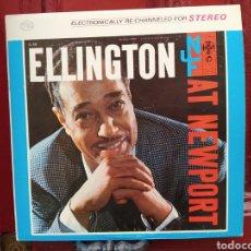 Discos de vinilo: DUKE ELLINGTON AND HIS ORCHESTRA -ELLINGTON AT NEWPORT. LP VINILO ORIGINAL USA. BUEN ESTADO.. Lote 253973780