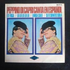 Discos de vinilo: PEPPINO DI CAPRI - LA FUGA - LA LA LA LA - LARGA CALLE - SI TE SIENES SOLA _ HISPAVOX 1966. Lote 253977180