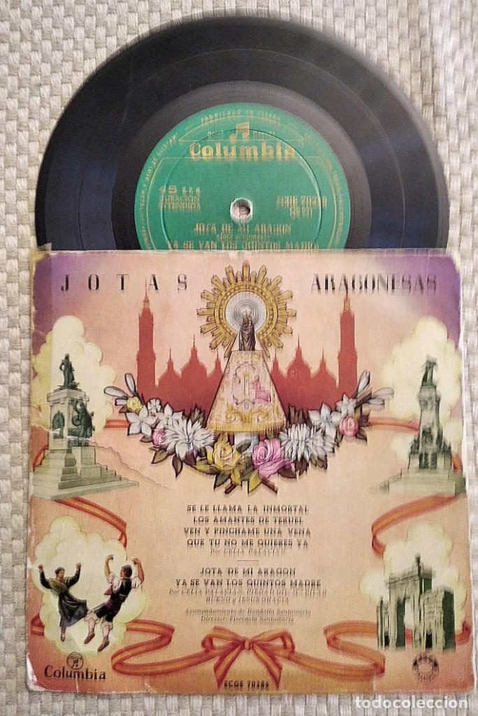 Discos de vinilo: Lote de 2 discos: Hacia la Ermita, Coro Rociero Hermandad del Rocío de Camas, y Jotas Aragonesas - Foto 4 - 253982390