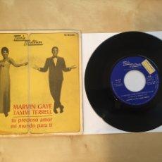 "Discos de vinilo: MARVIN GAYE & TAMMI TERRELL - TU PRECIOSO AMOR / MI MUNDO PARA TI - PROMO SINGLE 7"" - 1967 SPAIN. Lote 253984870"