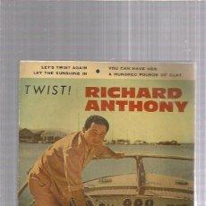 Discos de vinilo: RICHARD ANTHONY LET TWIST AGAIN. Lote 253987915