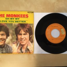 """Discos de vinilo: THE MONKEES - OH MY MY / I LOVE YOU BETTER - PROMO SINGLE RADIO 7"""" - 1970 SPAIN. Lote 253997080"""