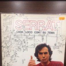 Discos de vinilo: JOAN MANUEL SERRAT. CADA LOCO CON SU TEMA.. Lote 254001935