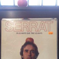"""Discos de vinilo: JOAN MANUEL SERRAT. """"FA VINT ANYS QUE TINC VINT ANYS"""".. Lote 254006380"""