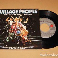 Discos de vinilo: VILLAGE PEOPLE - CAN´T STOP THE MUSIC (DISCO FEVER) - SINGLE - 1980 - IMPORT. Lote 254018015