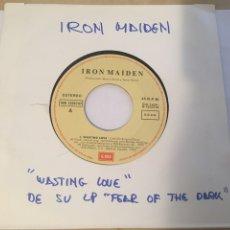 """Discos de vinilo: IRON MAIDEN - WASTING LOVE - PROMO RADIO SINGLE 7"""" - 1992 EMI SPAIN. Lote 254019555"""
