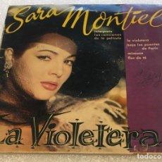 Discos de vinilo: EP SARA MONTIEL CANCIONES FILM LA VIOLETERA - FLOR DE TE Y OTROS TITULOS - HISPAVOX-PEDIDO MINIMO 7€. Lote 254019850