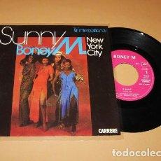 Discos de vinil: BONEY M. - SUNNY / NEW YORK CITY - SINGLE - 1977. Lote 254020015