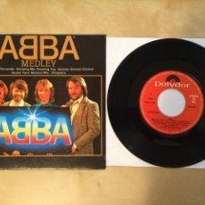 """Disques de vinyle: ABBA - MEDLEY - PROMO RADIO SINGLE 7"""" - 1992 SPAIN POLYDOR. Lote 254021925"""