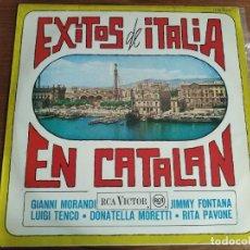 Discos de vinilo: VVAA - EXITOS DE ITALIA EN CATALÁN *** SUPER RARO LP ESPAÑOL 1967 LUIGI TENCO. Lote 254040315