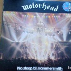Discos de vinilo: MOTORHEAD NO SLEEP´TIL HAMMERSMITH LP SPAIN BRONZE 1981. Lote 254042915