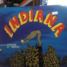 "Discos de vinilo: INDIANA 12"" INCLUYE HITHOUSE. Lote 254053965"