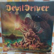 Discos de vinilo: DEVILDRIVER–DEALING WITH DEMONS . LP VINILO NUEVO PRECINTADO. HEAVY METAL. Lote 254056465