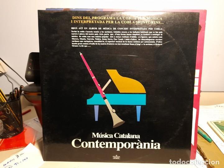 DOBLE LP MUSICA CATALANA CONTEMPORANIA (MUSICA DE CONCERT INTERPRETADA PER LA COBLA MONTGRINS ) (Música - Discos - LP Vinilo - Clásica, Ópera, Zarzuela y Marchas)