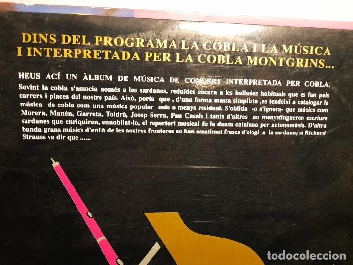 Discos de vinilo: DOBLE LP MUSICA CATALANA CONTEMPORANIA (MUSICA DE CONCERT INTERPRETADA PER LA COBLA MONTGRINS ) - Foto 2 - 254056695