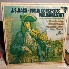 Discos de vinilo: LP J.S.BACH : VIOLIN CONCERTOS. Lote 254058285