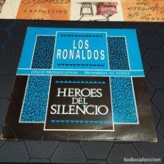 Discos de vinilo: HÉROES DEL SILENCIO/LOS RONALDOS - MAXI COMPARTIDO - PROMOCIONAL.. Lote 254062230