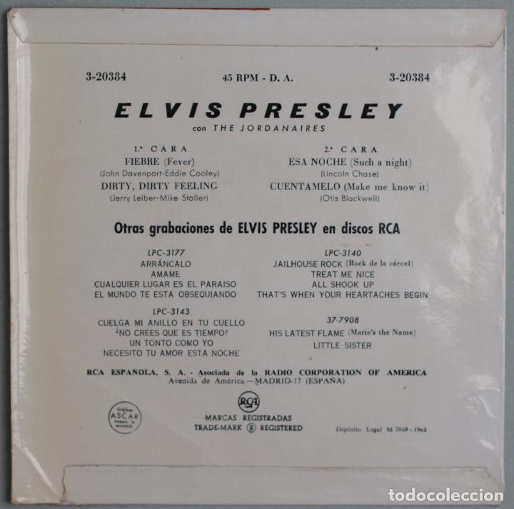 Discos de vinilo: ELVIS PRESLEY WITH THE JORDANAIRES//FEVER+3// EP//1962// RCA - Foto 2 - 254062980