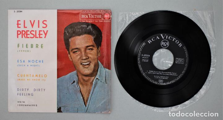 Discos de vinilo: ELVIS PRESLEY WITH THE JORDANAIRES//FEVER+3// EP//1962// RCA - Foto 3 - 254062980