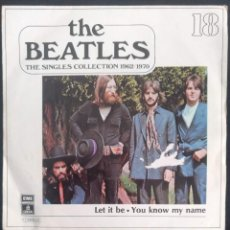 Discos de vinilo: THE BEATLES - THE SINGLES COLLECTION 1962/1970 - LET IT BE / YOU KNOW MY NAME Nº 18. Lote 254065985
