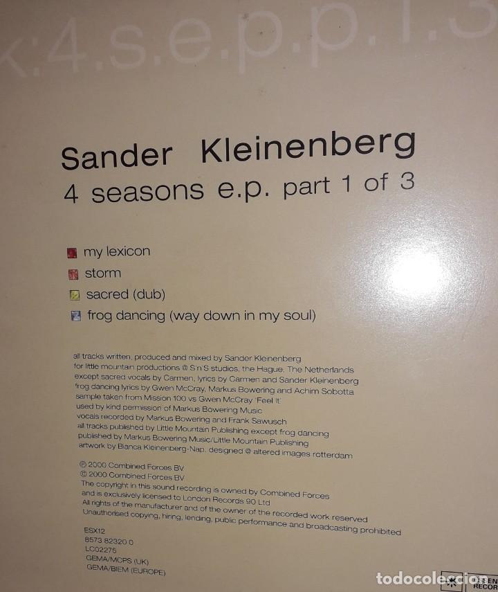 "Discos de vinilo: DOBLE E.P. 12"" - SANDER KLEINENBERG 4 Seasons EP part 1 of 3 (feat. on Sashas Ibiza G.U. 2000) - Foto 2 - 254074735"