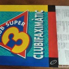 Discos de vinilo: VVAA - CLUB SUPER 3 - CLUBFAXIMÀTIC *** RARO LP TV3 1992 GRAN ESTADO. Lote 254089100