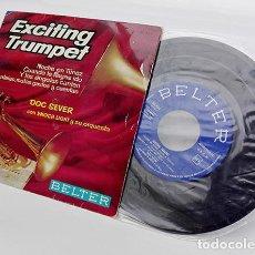 Discos de vinilo: EXCITING TRUMPET DOC SEVER CON ENOCH LIGHT Y SU ORQUESTA. AÑO, 1961. DISCO-VINILO, 45 RPM.. Lote 254107610