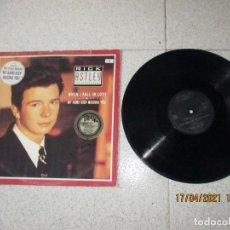 Discos de vinilo: RICK ASTLEY - WHEN I FALL IN LOVE - MAXI - UK - RCA - REF PT 41684 - PLS 303 -. Lote 254140640