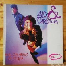 Discos de vinilo: 12 MAXI , ALEX Y CHIRSTINA , MIL CAMBIOS DE COLOR.. Lote 254143080