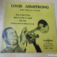 Discos de vinilo: LOUIS ARMSTRONG, EP, BLUES DE BACK O´TOWN + 3, AÑO 1959. Lote 254154785